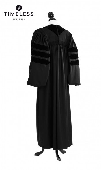 Deluxe Doctoral Academic Talar, TIMELESS silver wool
