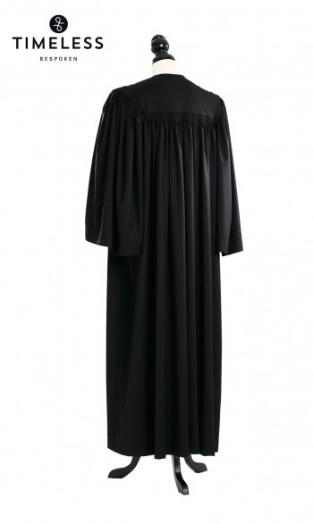 Traditional Geneva Clergy Talar, TIMELESS silver wool
