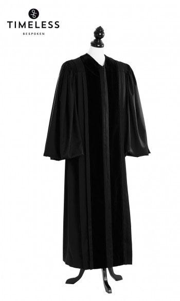 Front Velvet Geneva Clergy Talar, TIMELESS gold silk