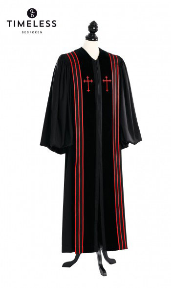 Bishop Clergy Talar, TIMELESS silver wool
