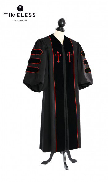 Dr. of Divinity Clergy Talar, TIMELESS silver wool