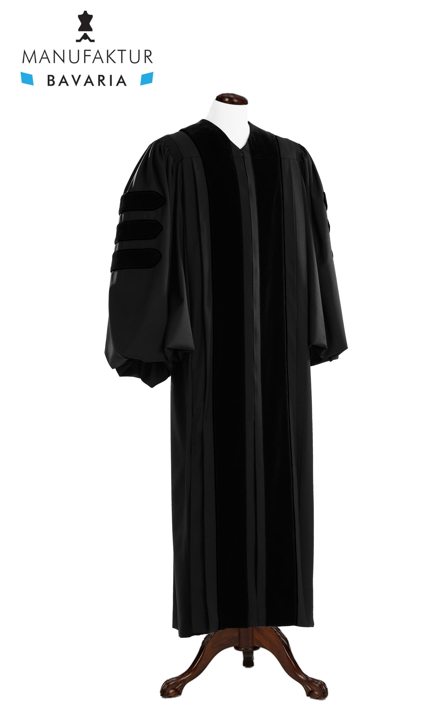 Deluxe Schwarz Clergy / Pulpit Robe, royal regalia