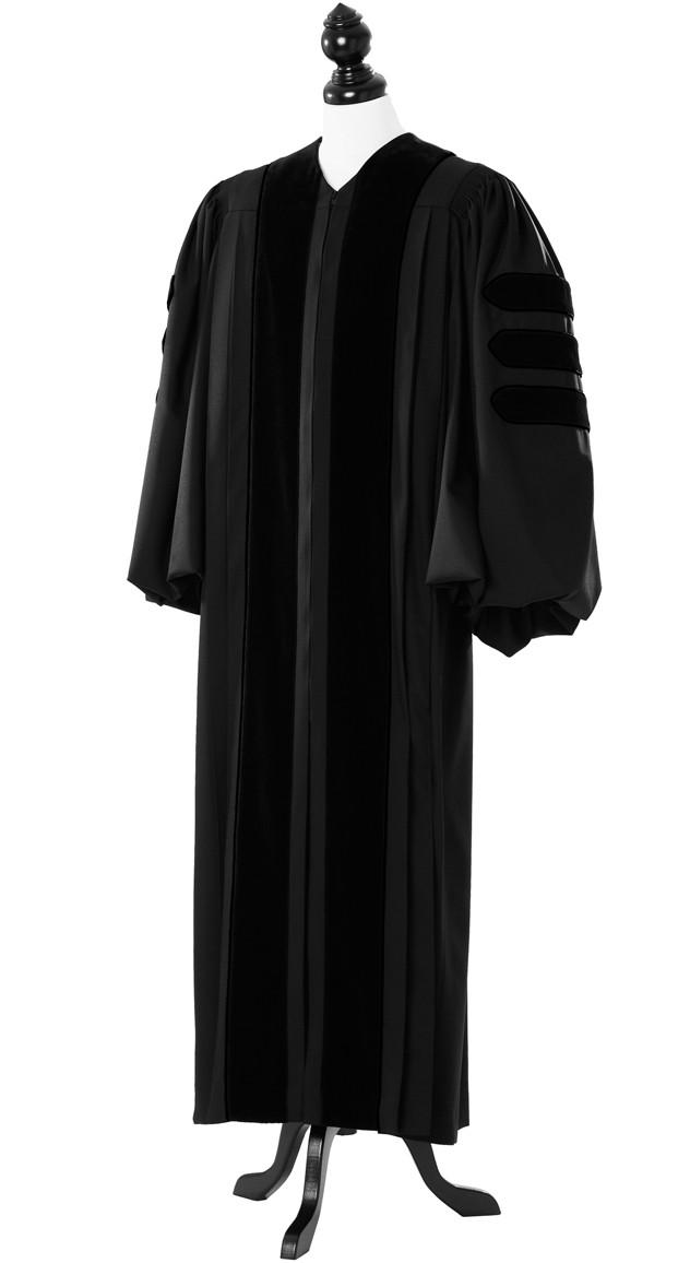Deluxe Black Clergy Talar