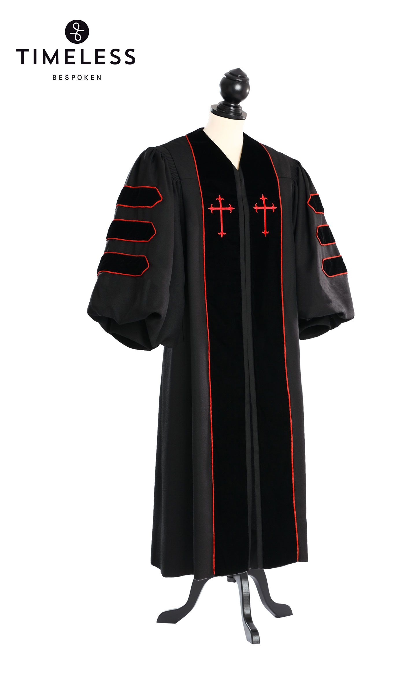 Dr. of Divinity Clergy Talar, TIMELESS gold silk